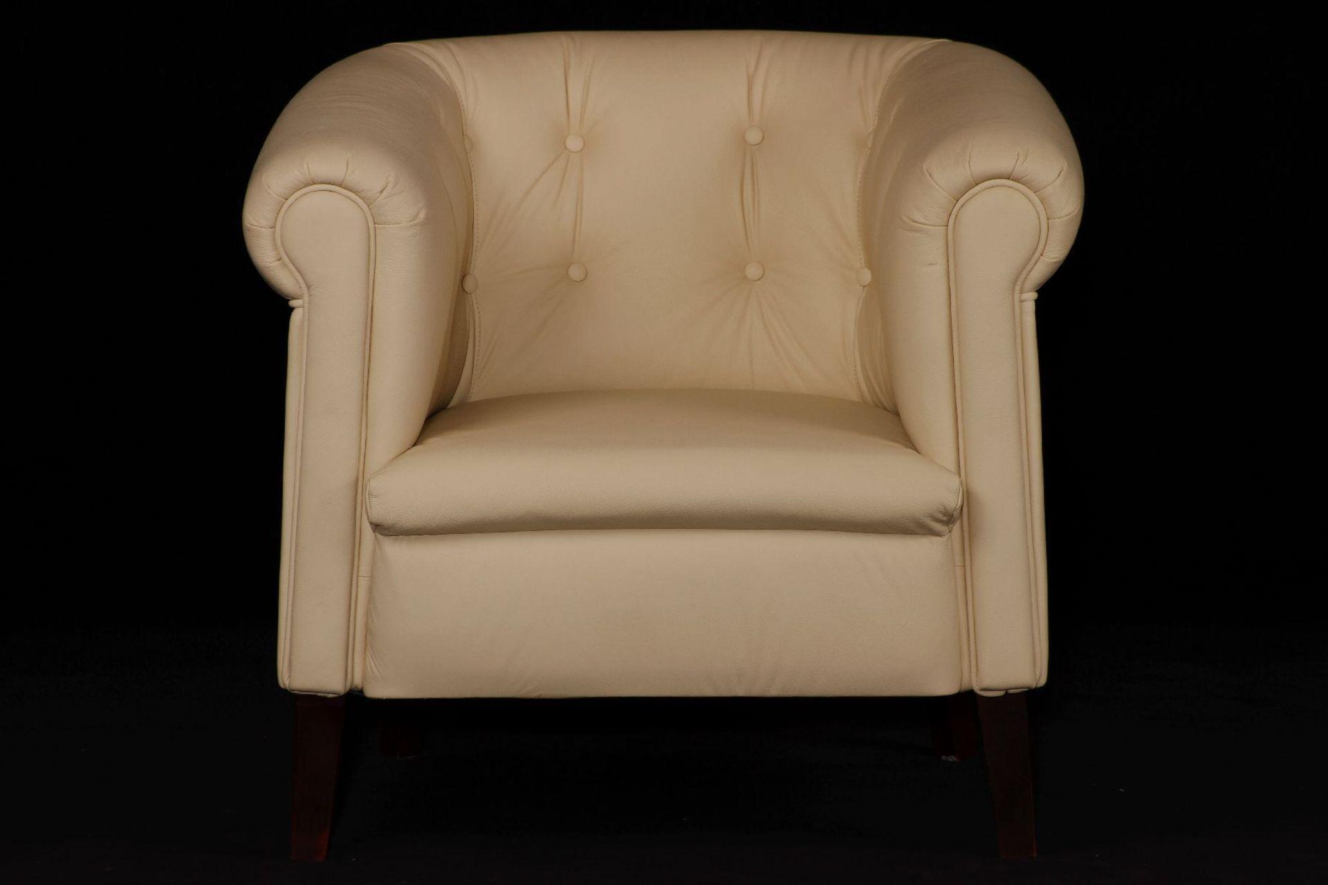 Sessel, nach engl. Vorbild gearbeitet, ausgesuchtes - Image 2 of 3