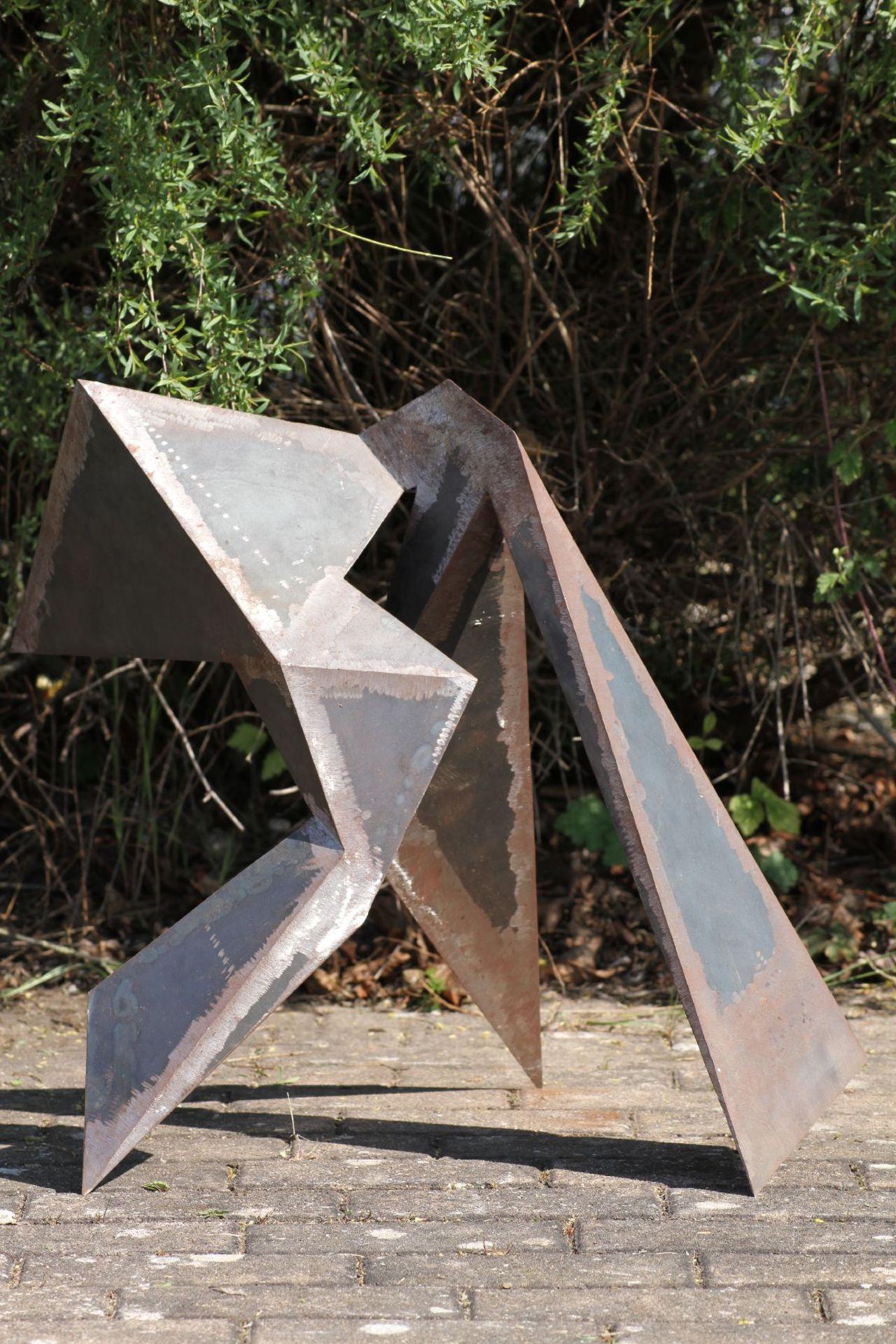Skulptur, Andreas Helmling, Eisen/Metall, im 3er Takt