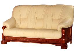 3-Sitzer Sofa,  Gestell teils Buche u. Eiche massiv, auf