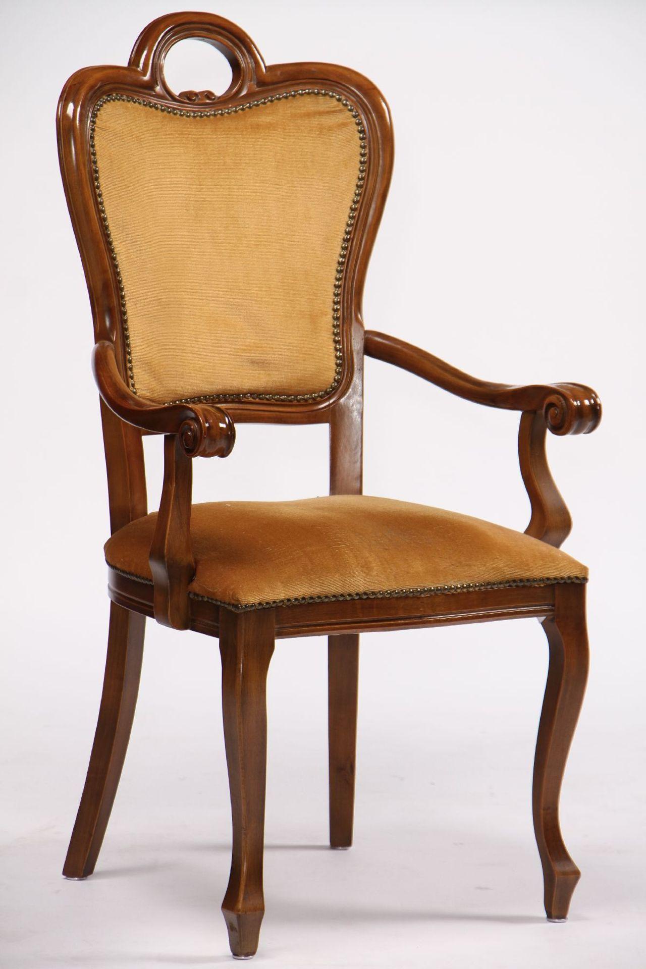 Ovaler Ausziehtisch mit 6 Stühlen, nach ital. Vorbild - Image 5 of 5