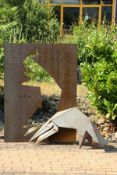 Skulptur, Andreas Helmling,  Eisen/Metall, Stier in