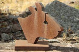 Skulptur Andreas Helmling,  Eisen/Metall, Büste einer