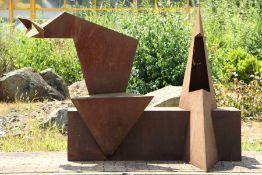 Skulptur, Andreas Helmling,  Eisen/Metall, 'Königspaar',