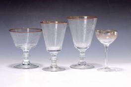 Umfangreiches Trinkglasservice, deutsch, um 1900/10,