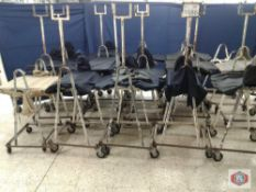 Production Material Carts w/Cushioned Table Base