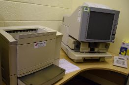 Microfiche Reader with Printer