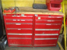Parts Supply Cabinets With Contents