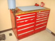 6-Drawer Parts/Supply Cabinet With Contents