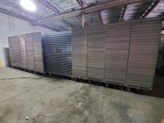 Perforated Aluminum Tray Stacks