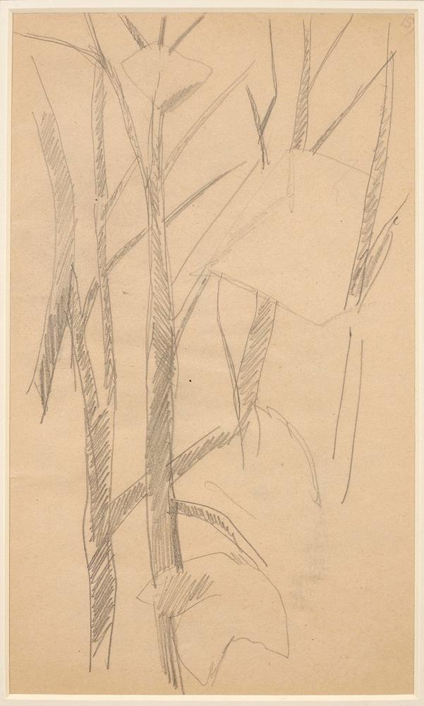LYUBOV POPOVA (1889-1924) Two Studies of Trees - annotated with numbers '161' and [...] - Image 3 of 3