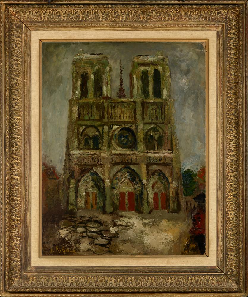 ISSACHAR BER RYBACK (1897-1935) Notre Dame de Paris - signed 'I Ryback' (lower [...] - Image 2 of 2