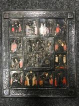 ICON IN SILVER OKLAD «RESURRECTION OF CHRIST». Central Russia, late XIX century. - [...]