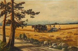 F. PAVLOV At harvest time - signed 'F Pavlov' (lower right) oil on canvas 99 x [...]