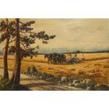 F. PAVLOV At harvest time - signed 'F Pavlov' (lower right) oil on canvas 99 x [...]