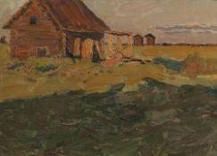 VLADIMIR FEDOROVIC STOZHAROV (1926-1973) Kolhoz in the evening - dated '2.7.57' [...]