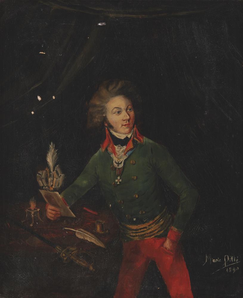 MAILLE MARIE PILTET, XIX CENTURY Portrait of Count Roger de Damas (1765—1823). Late [...]