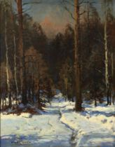 WIKTOR KORECKI (1890-1980) Winter Forest - signed 'Wiktor Korecki' (lower [...]