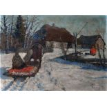 ANDREI EGOROV (1878-1954) Winter landscape - signed 'A Jegorov' (lower right) oil [...]