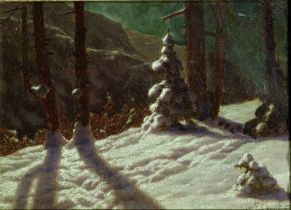IVAN FEDOROVICH CHOULTSE (1874 - 1939) Winter in the forest - signed and dated 'Iw [...]