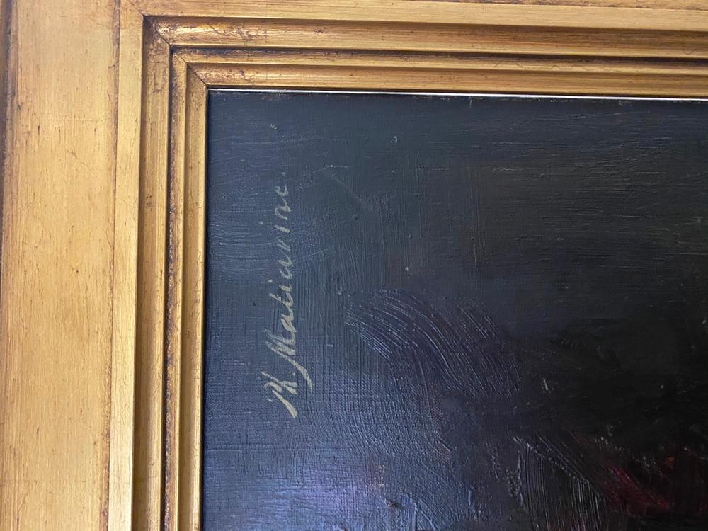 FILIPP MALYAVIN (1869-1940) Learning the Alphabet - Signed 'PH Maliavin' (upper [...] - Image 4 of 4