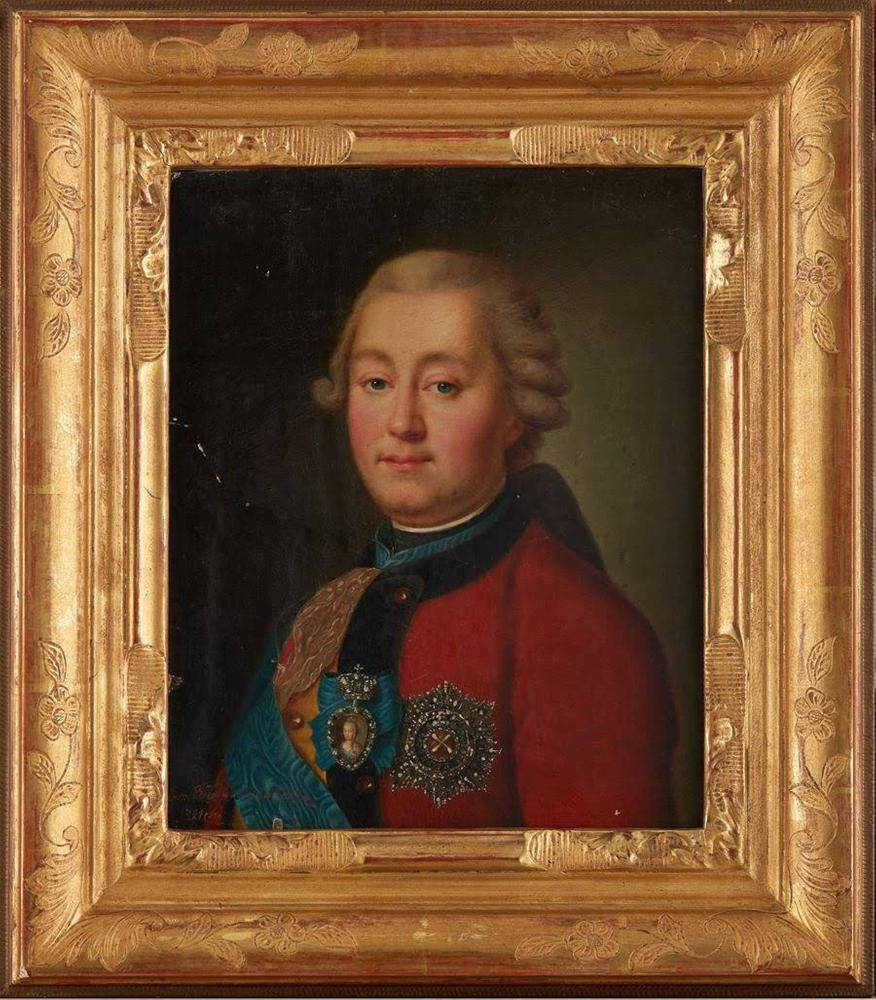 UNKNOWN RUSSIAN ARTIST, early XIX century Portrait of Prince Grigory Grigoryevich [...] - Image 2 of 3