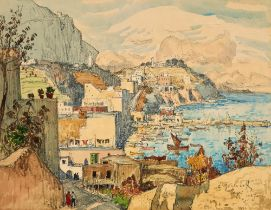 KONSTANTIN GORBATOV (1876-1945) View of Capri - signed, inscribed and dated 'C [...]