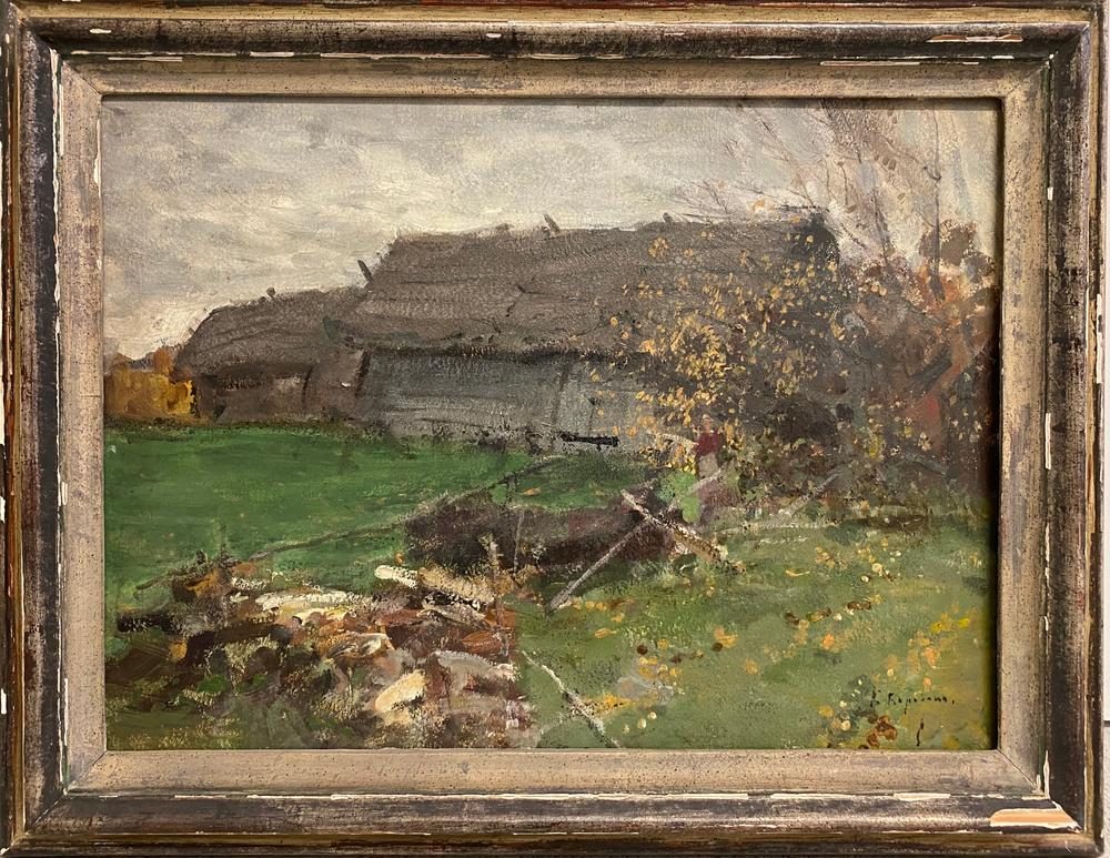 KONSTANTIN KOROVIN (1861-1939) Village - signed in Cyrillic (lower right) oil on [...] - Image 2 of 5