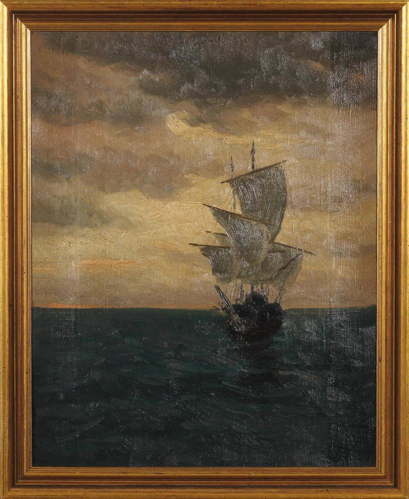 JAKOB KOGANOWSKY (1874-1926) Ship at Sea - signed 'Y. Koganowsky'(lower [...] - Image 2 of 2