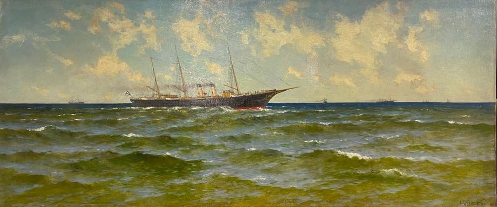 KONSTANTIN YAKOVLEVICH KRYZHITSKY (1858-1911) Imperial yacht 'POLAR STAR' of [...]