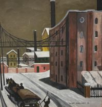 PIOTR GAVRILOVICH (B.1920) The factory town in winter - signed in Cyrillic and dated [...]