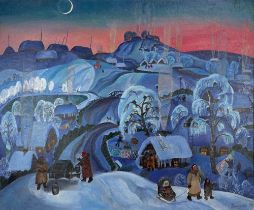 DZOVINAR BEKARYAN (B. 1940) Winter - signed in Cyrillic 'Bekaryan D' [...]