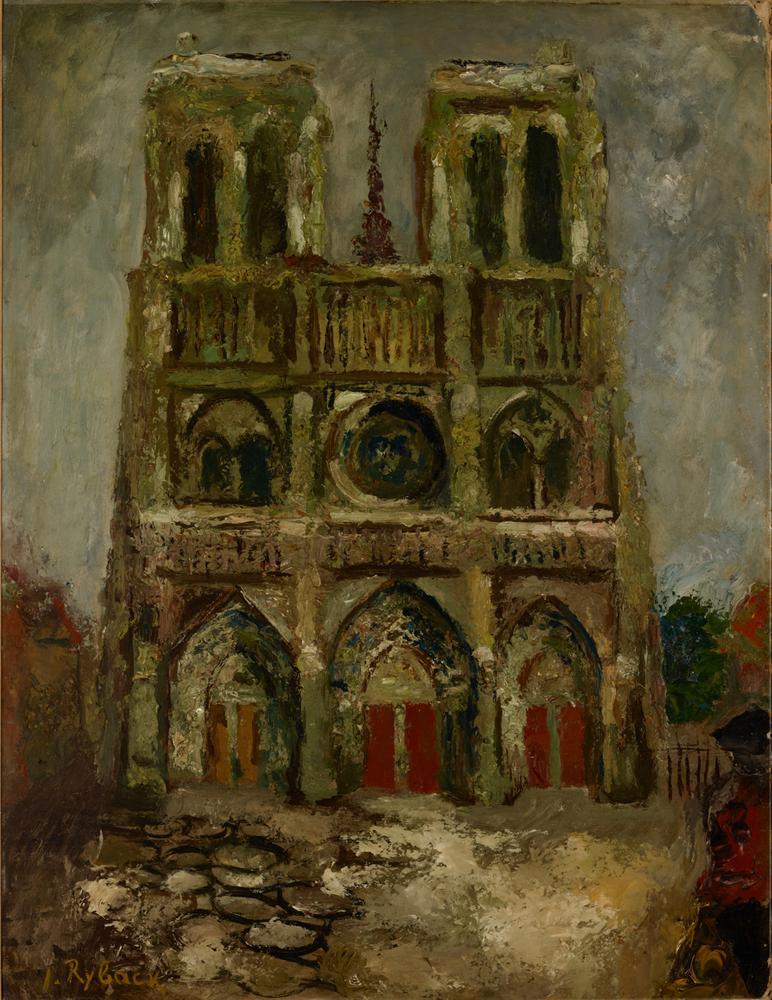 ISSACHAR BER RYBACK (1897-1935) Notre Dame de Paris - signed 'I Ryback' (lower [...]