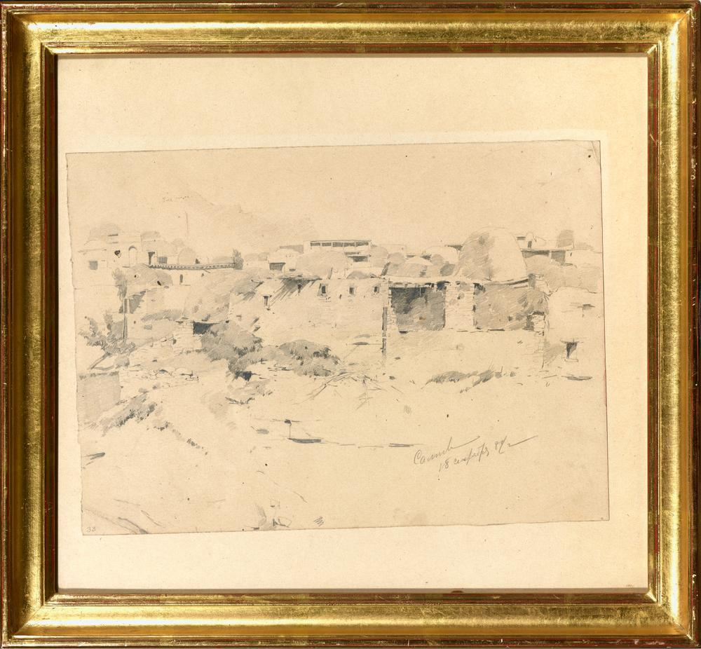 FRANZ ROUBAUD (1856-1928) View of the village of Salta in Dagestan - Signed 'Salta [...] - Image 2 of 2