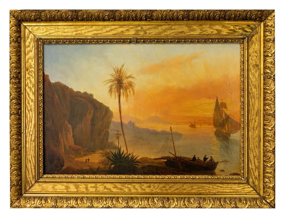 UNKNOWN RUSSIAN ARTIST Seaside. The middle of the XIX century. - oil on canvas 35 x [...] - Image 2 of 2