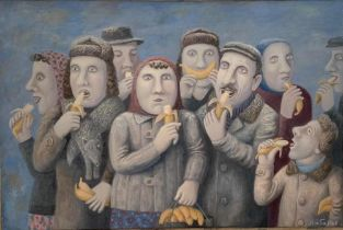 VLADIMIR LYUBAROV (B.1944) Banana republic - signed in Cyrillic (lower right), signed [...]