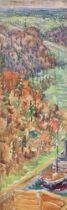 ILYA I. MASHKOV (1881-1944) Moscow-Volga Canal. 1935. - oil on cardboard 73 x 26.5 [...]