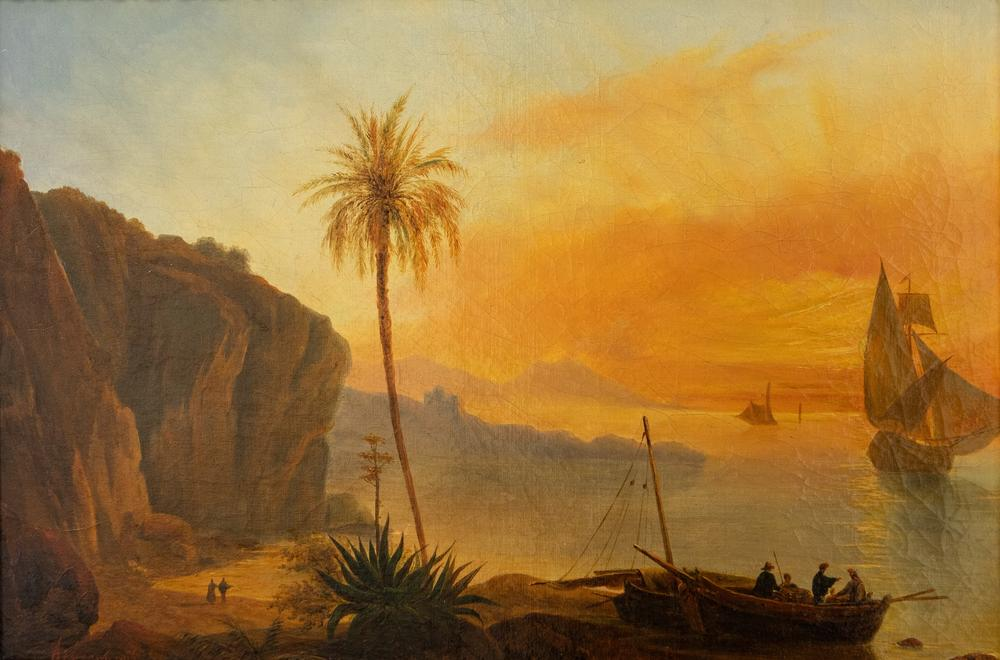 UNKNOWN RUSSIAN ARTIST Seaside. The middle of the XIX century. - oil on canvas 35 x [...]