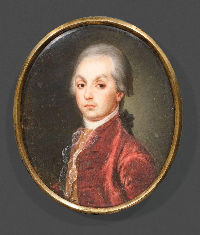 UNKNOWN RUSSIAN ARTIST Portrait A. N. Radishshev. End of the XVIII century. - [...]