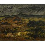 LEONID SOLOGUB (1884-1956) Rain - stamp of the artist's studio 'Leonid Sologub [...]