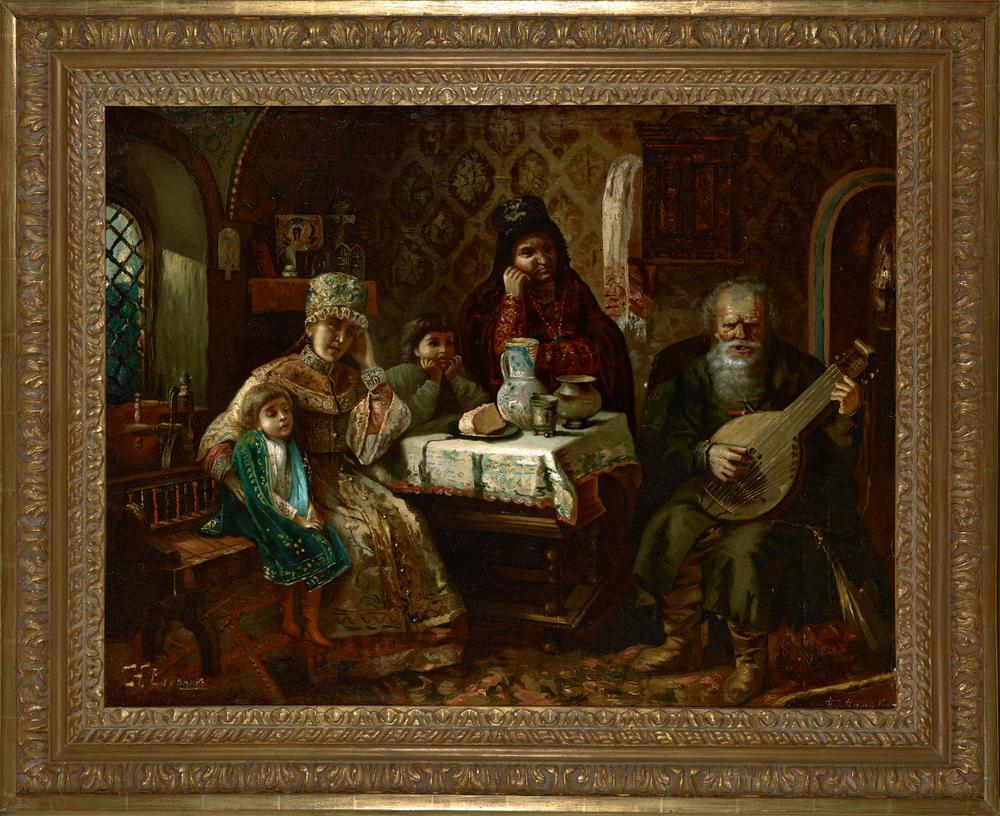 NIKOLAI VORONIN, AFTER KONSTANTIN MAKOVSKY (1839-1915) Portrait a domra player - [...] - Image 2 of 3