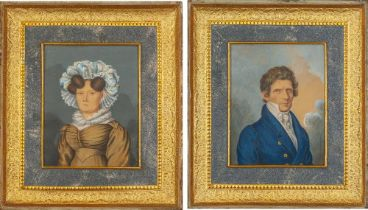 JOHAN RENATUS LÜDERITZ (1780-AFTER 1829) A pair of portraits of the German First [...]