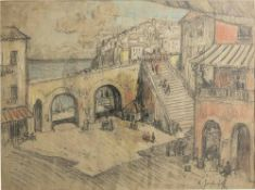 KONSTANTIN IVANOVICH GORBATOV (1876-1945) South Italian city - signed [...]