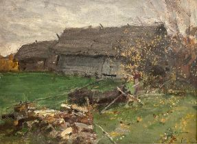 KONSTANTIN KOROVIN (1861-1939) Village - signed in Cyrillic (lower right) oil on [...]