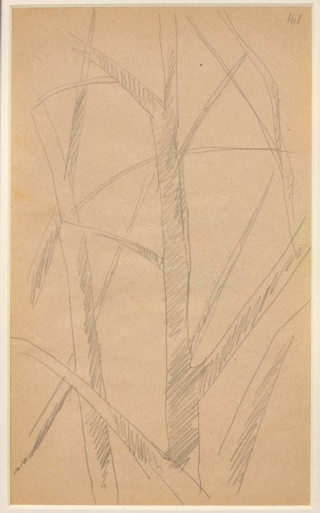 LYUBOV POPOVA (1889-1924) Two Studies of Trees - annotated with numbers '161' and [...] - Image 2 of 3