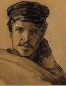 JAKOB KOGANOWSKY (1874-1926) Self Portrait - Charcoal and pencil on paper 46 x 35 [...]