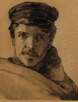 JAKOB KOGANOWSKY (1874-1926) Self Portrait - Charcoal and pencil on paper 46 x 35 [...]