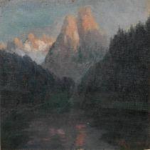 JAKOB KOGANOWSKY (1874-1926) Snow Capped Mountings - signed 'Y. Koganowsky'(lower [...]