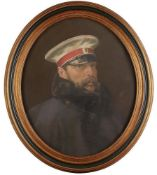 RUSSIAN SCHOOL Portrait of Emperor Alexander II in a grearcoat. After the painting of [...]