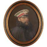 RUSSIAN SCHOOL Portrait of Emperor Alexander II in a grearcoat. After the painting of [...]
