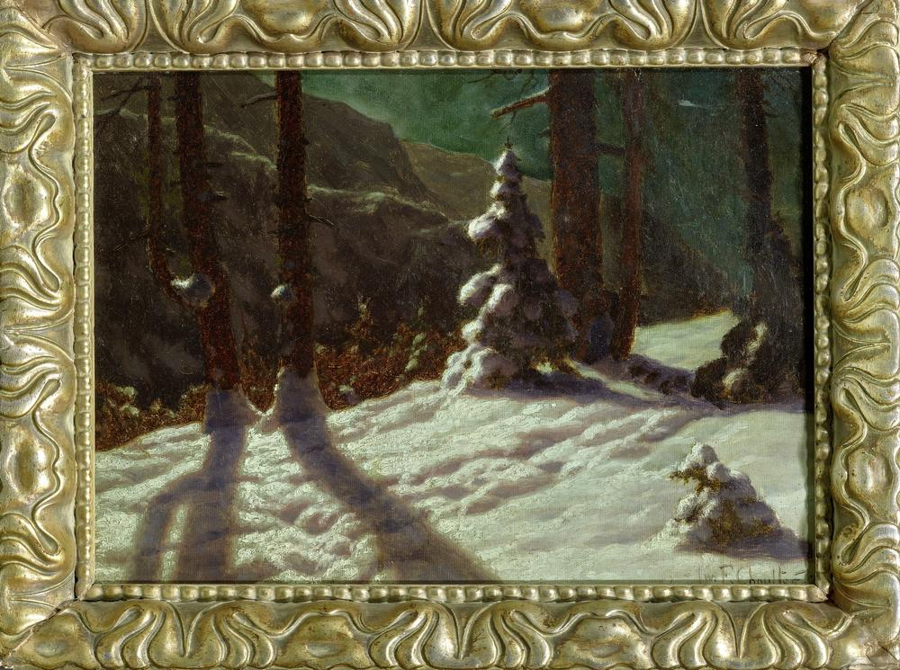 IVAN FEDOROVICH CHOULTSE (1874 - 1939) Winter in the forest - signed and dated 'Iw [...] - Image 2 of 2